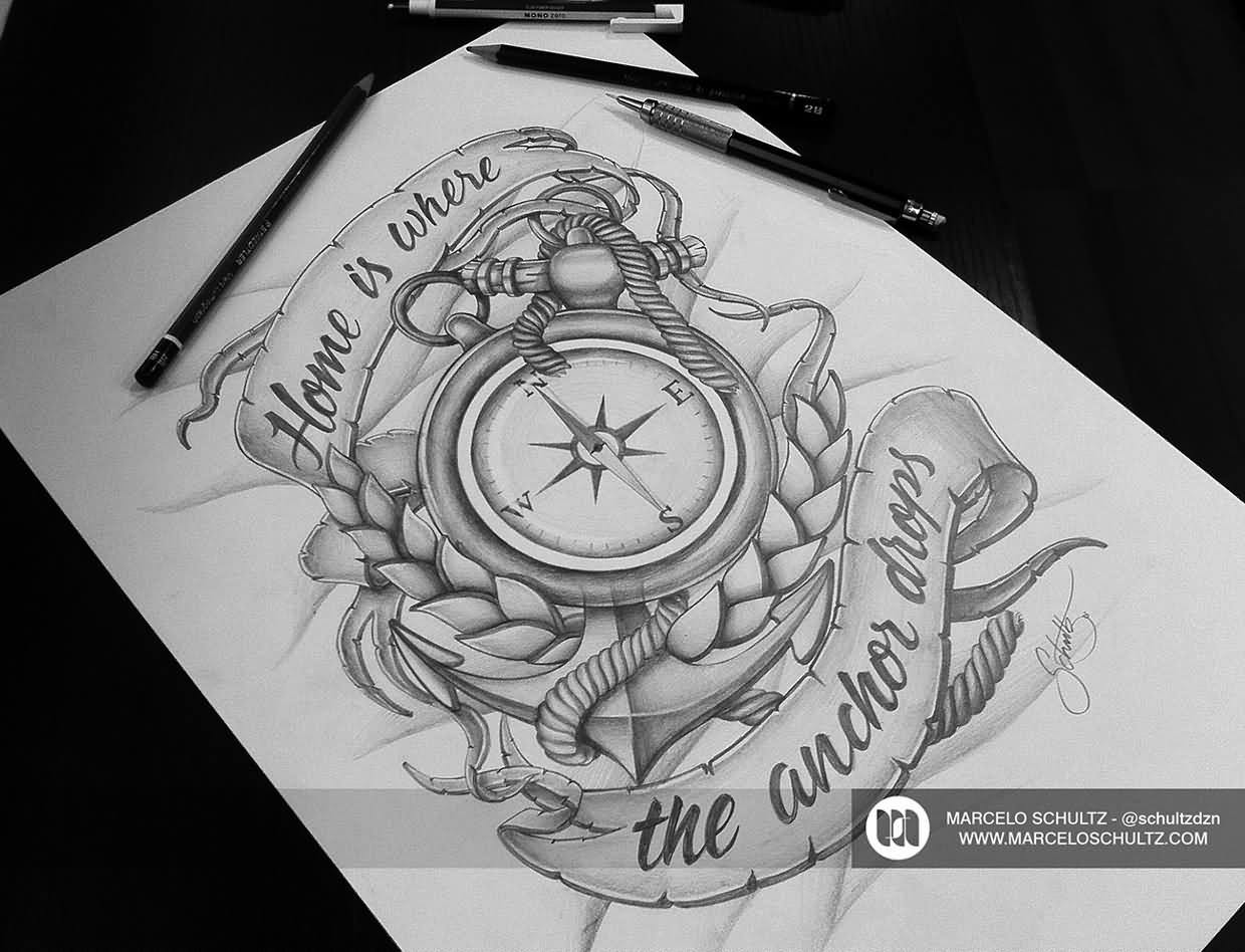 Viking Compass Tattoo Designs