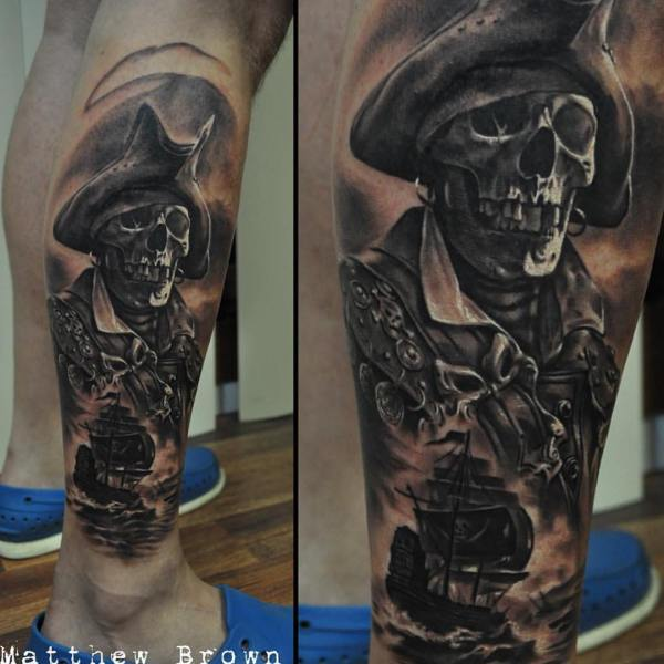 pirate skeleton tattoos