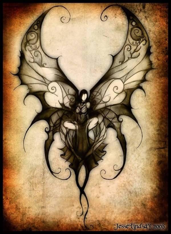 Attractive Fairy Moon Tattoo Design