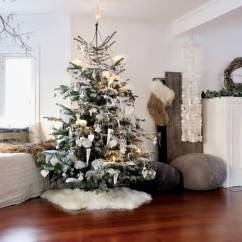 Beautiful Living Rooms At Christmas Black Rugs For Room Tree Decoration Inside