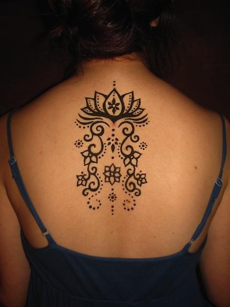 henna lotus tattoos &