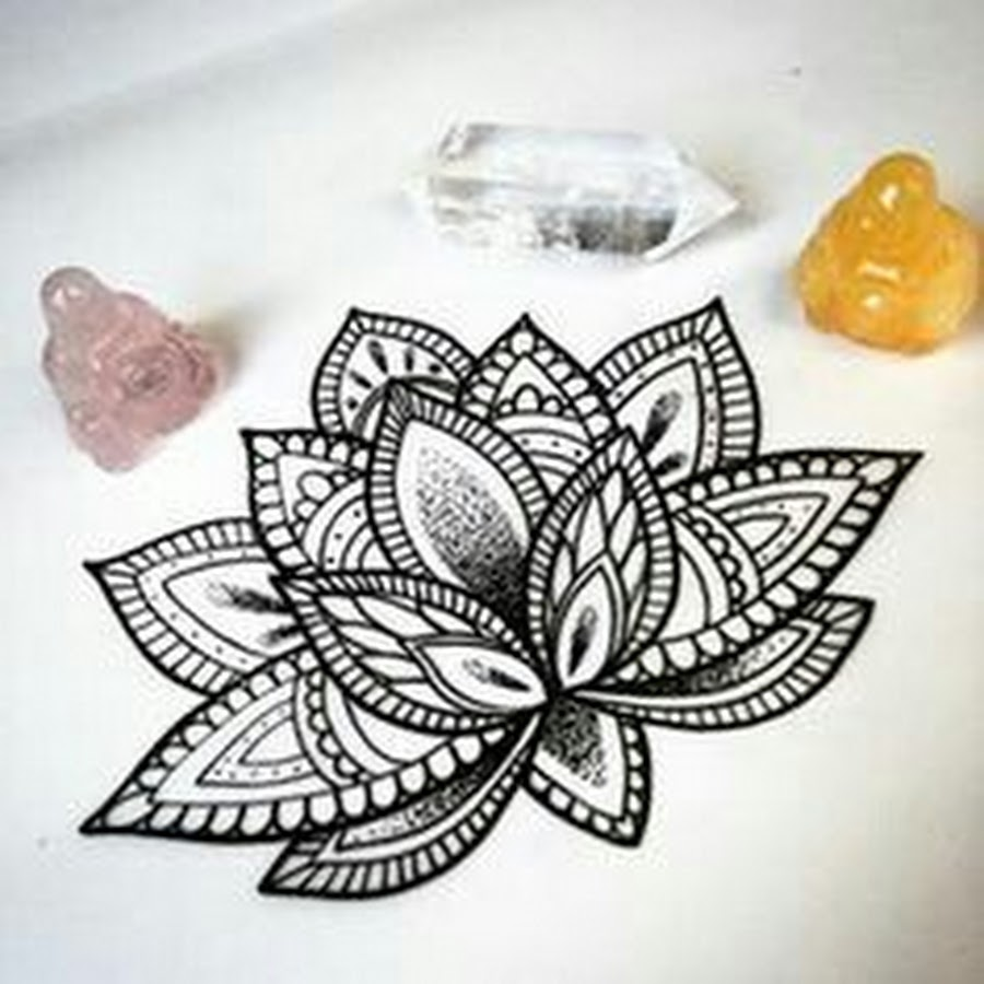 Mandala Lotus Flower Tattoo Designs
