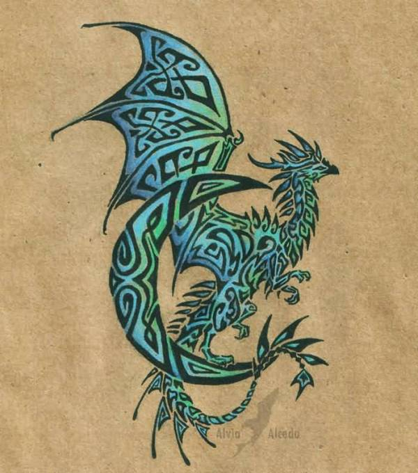 latest dragon tattoo design