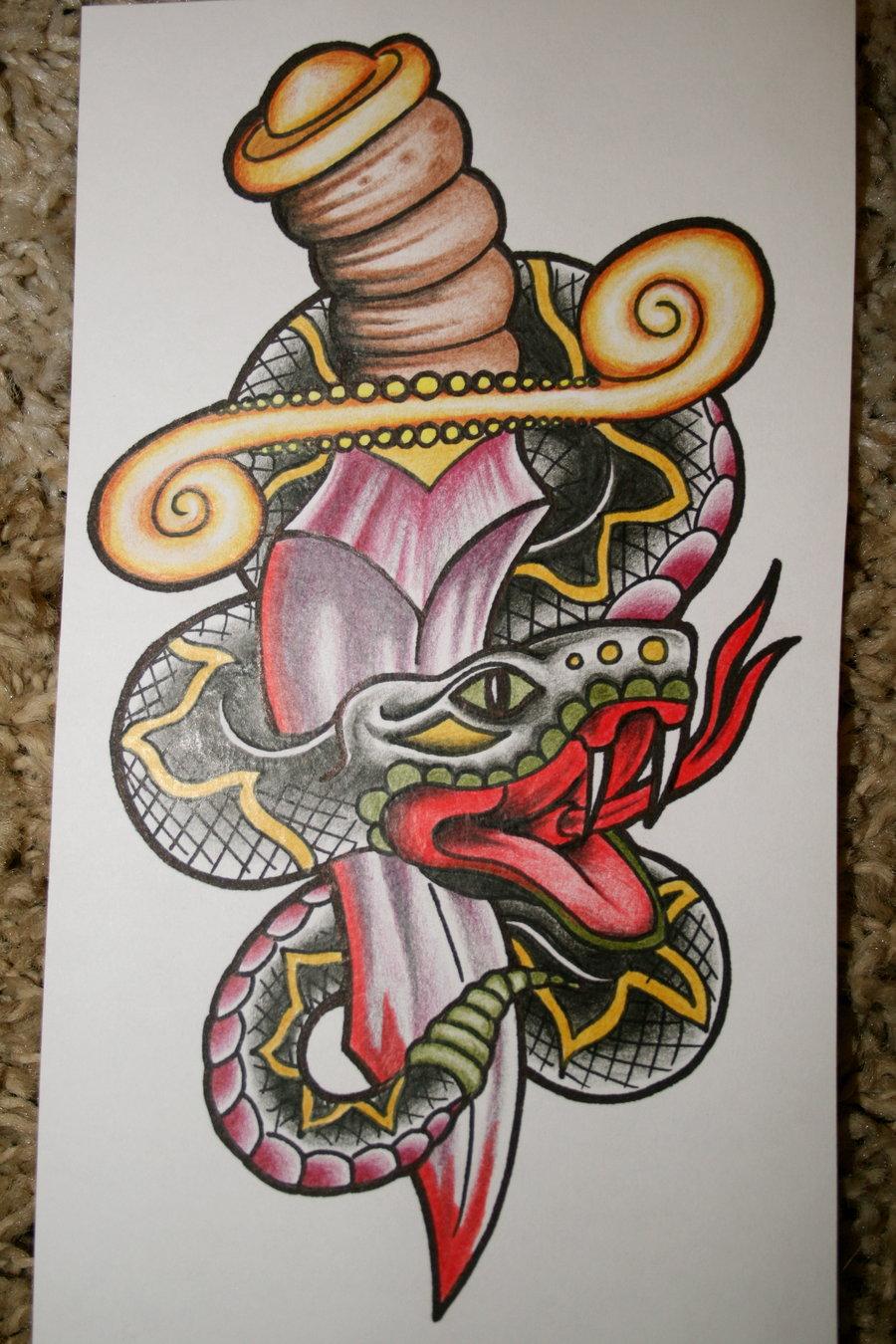 Knife Through Heart Tattoo Drawings