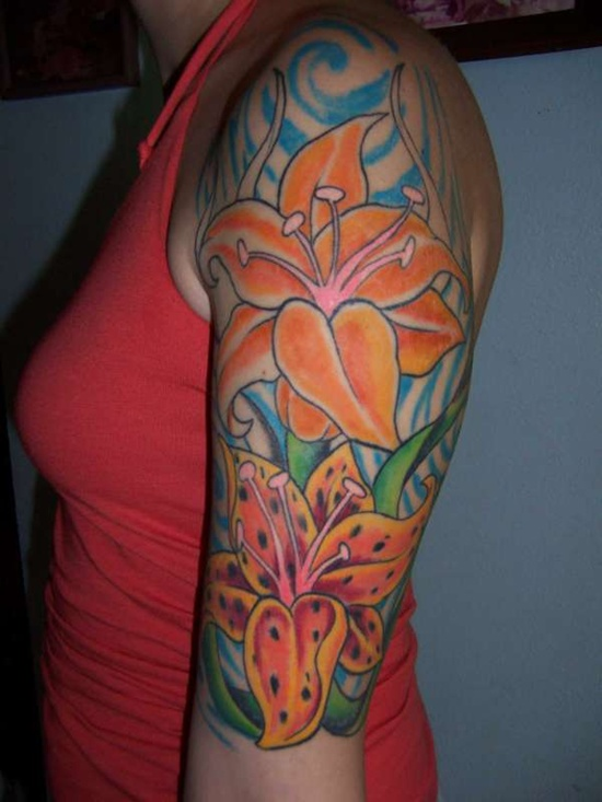 20 Lily Half Sleeve Tattoos Ideas And Designs