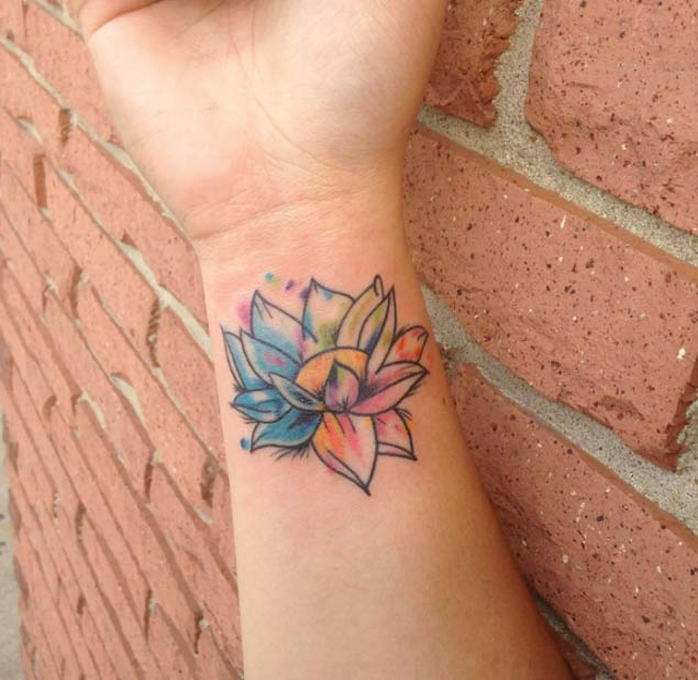 Wrist Lotus Blossom Lotus Flower Tattoo