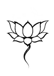 outline lotus tattoos collection
