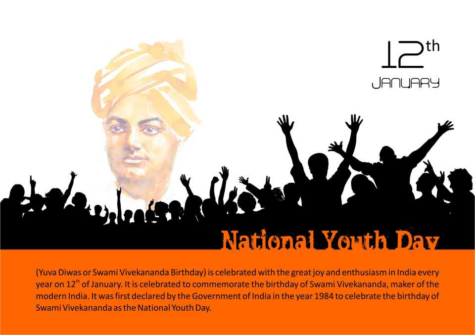 50 Most Beautiful National Youth Day Greeting Pictures