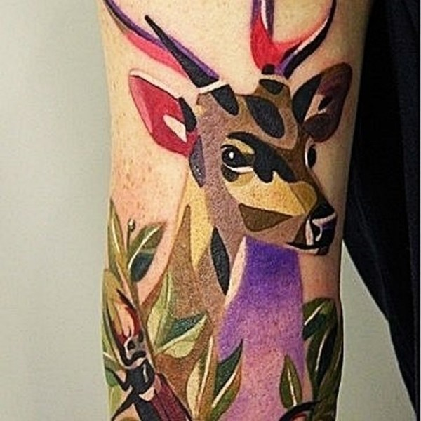 Cute Deer Tattoos Collection
