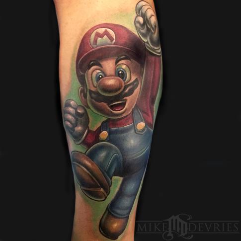 cool super mario tattoo