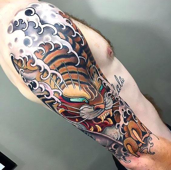 20 Japanese Tiger Sleeve Tattoo Ideas And Designs