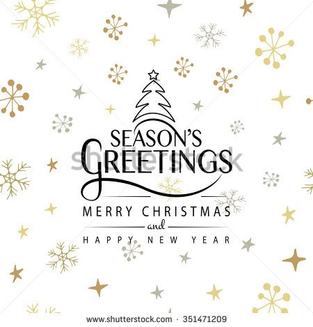 Seasons Greetings Merry Christmas And Happy New Year