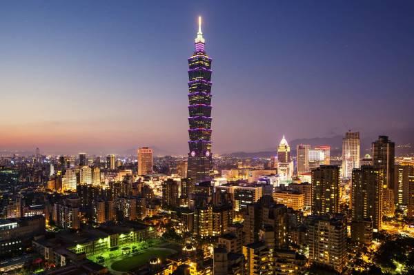 Taipei 101 Amazing With Night Lights