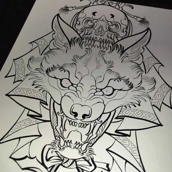 Skull Tattoo Outline Designs