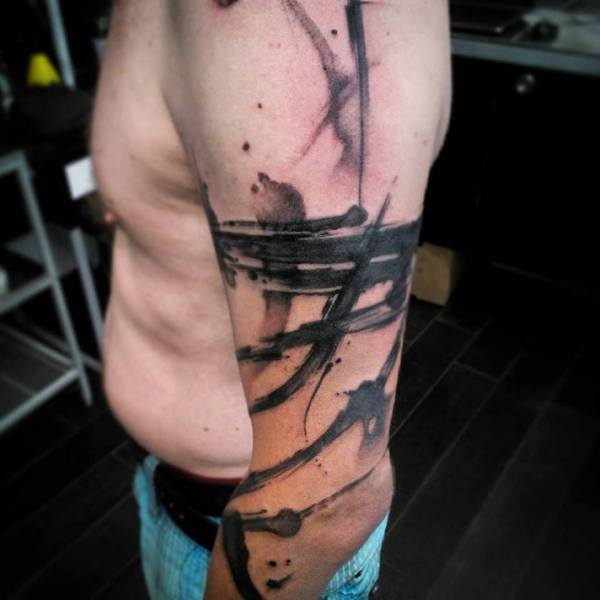 Abstract Black Tattoo Sleeve