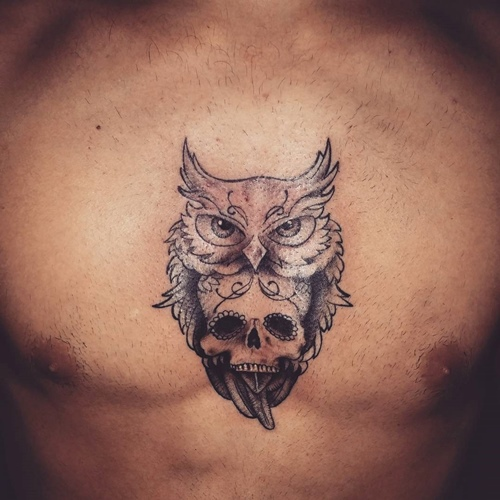 20 Tiny Skull Chest Tattoos Ideas And Designs