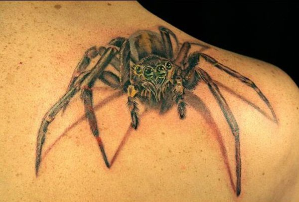 spider tattoo shoulder