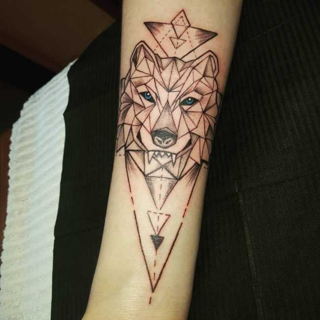 Wolf Tribal Tattoos Designs Arm