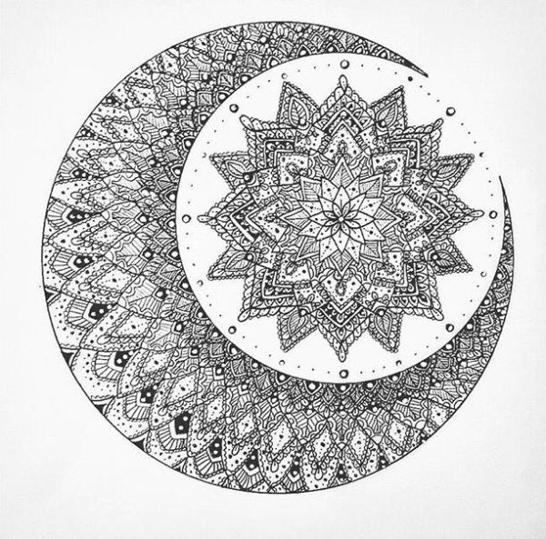 20 Flowering Moon Mandala Tattoos Ideas And Designs