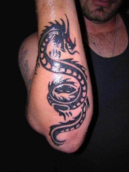 Forearm Dragon Tattoos For Men