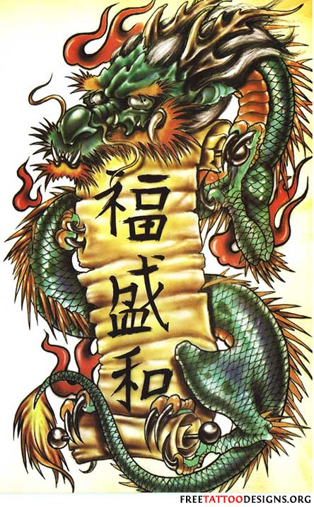 japanese dragon tattoos design