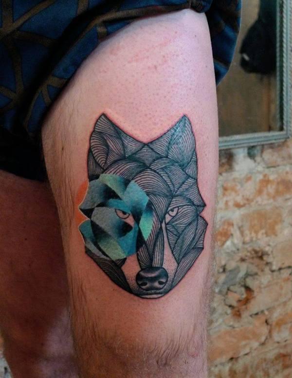 20 Geometric Tattoos Head Tattoos Ideas And Designs