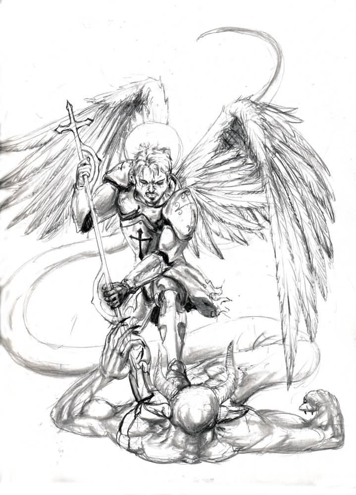 10+ Archangel Michael Tattoos On Chest