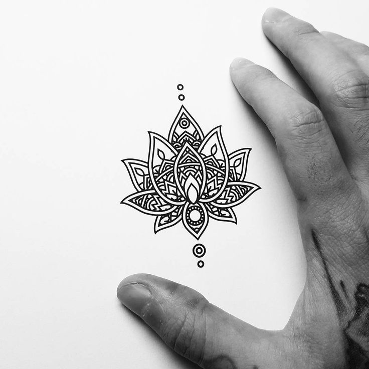 Small Mandala Hand Tattoo