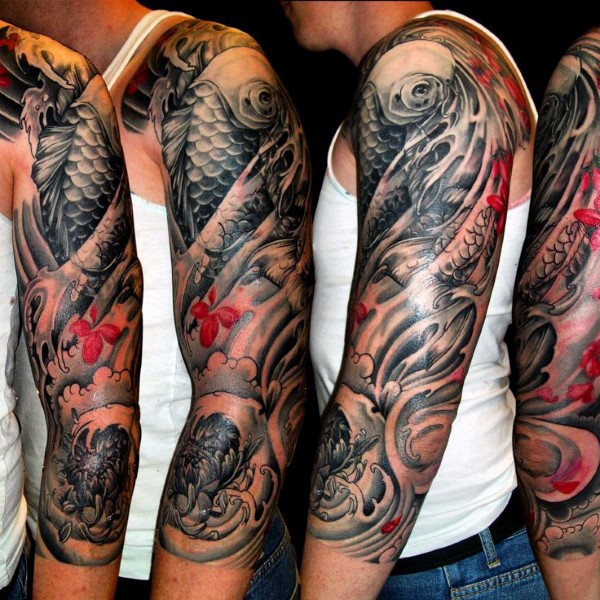 Koi Fish Tattoo Forearm Sleeve