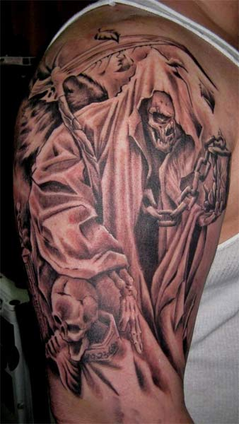 grim reaper tattoos design