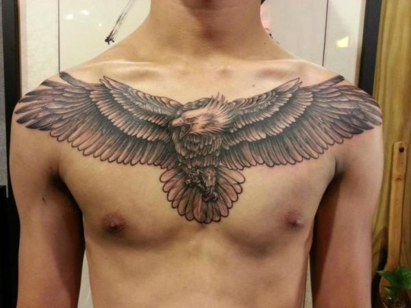 20 Eagle Wings Chest Tattoos For Men Ideas And Designs