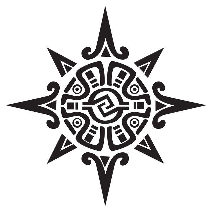 Aztec Sun Tattoo Design