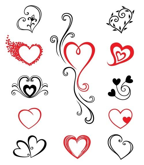 Simple Heart Tattoo Designs For Girls