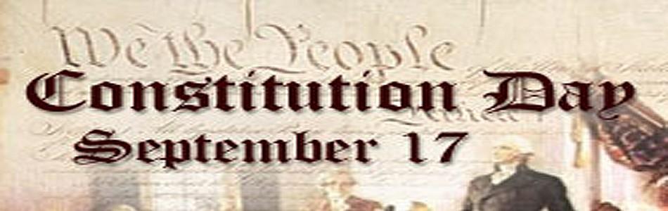 Constitution Day September 17 Header Image