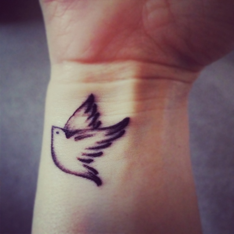Flock Of Birds Tattoo Wrist