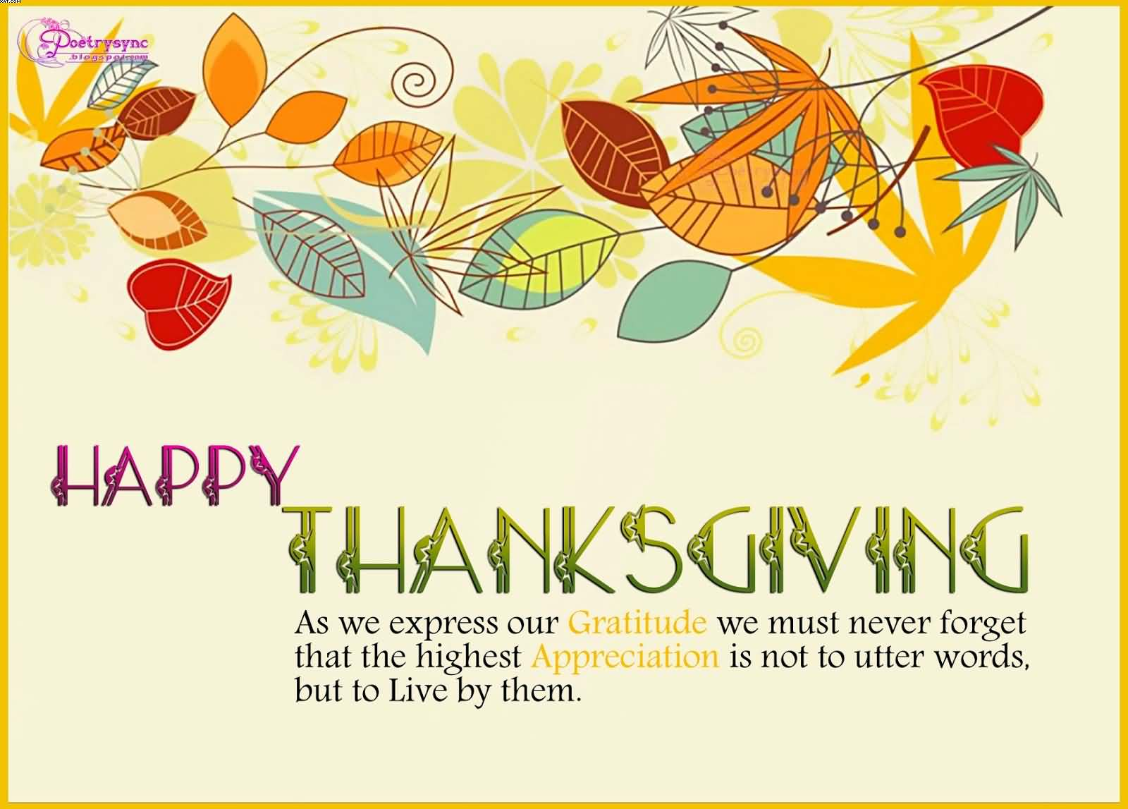 Happy Thanksgiving Wishes Wallpaper