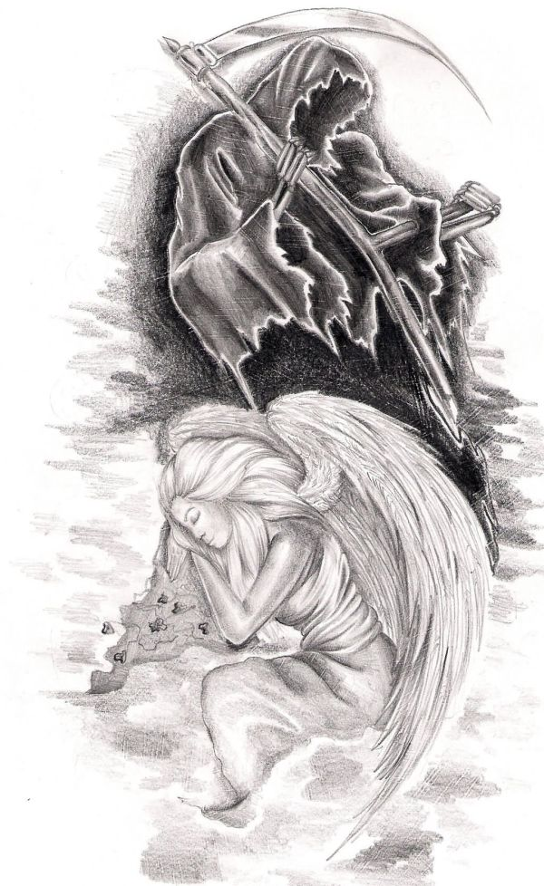 Angel Of Death Tattoos & Design With Meaning