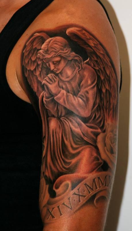 incredible praying angel tattoos
