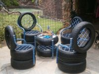 Chairs & Table Made From Old Used Tires