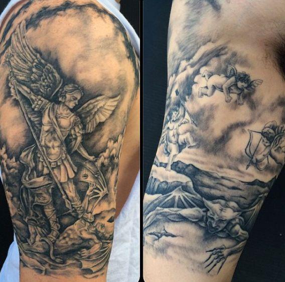 St Michael Forearm Tattoo