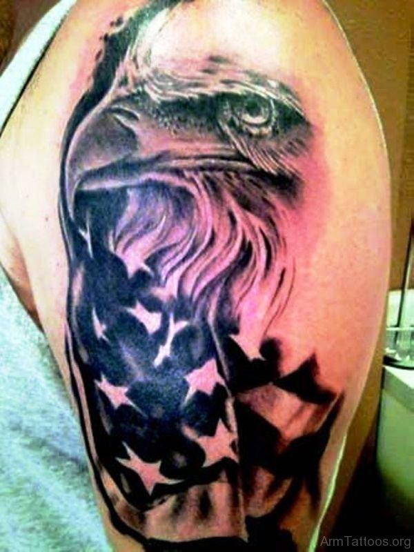 20 Patriotic American Eagle Black White Tattoos Ideas And Designs