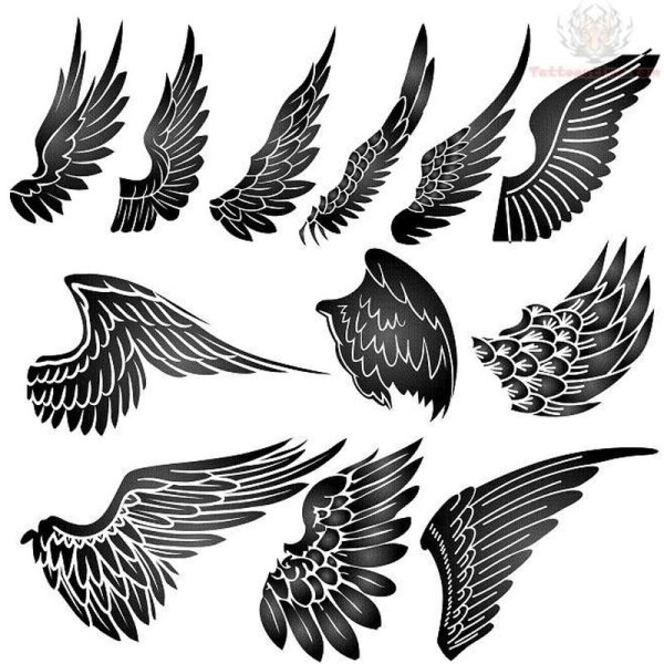 20 Wings Back Tattoos For Men Stencils Ideas And Designs