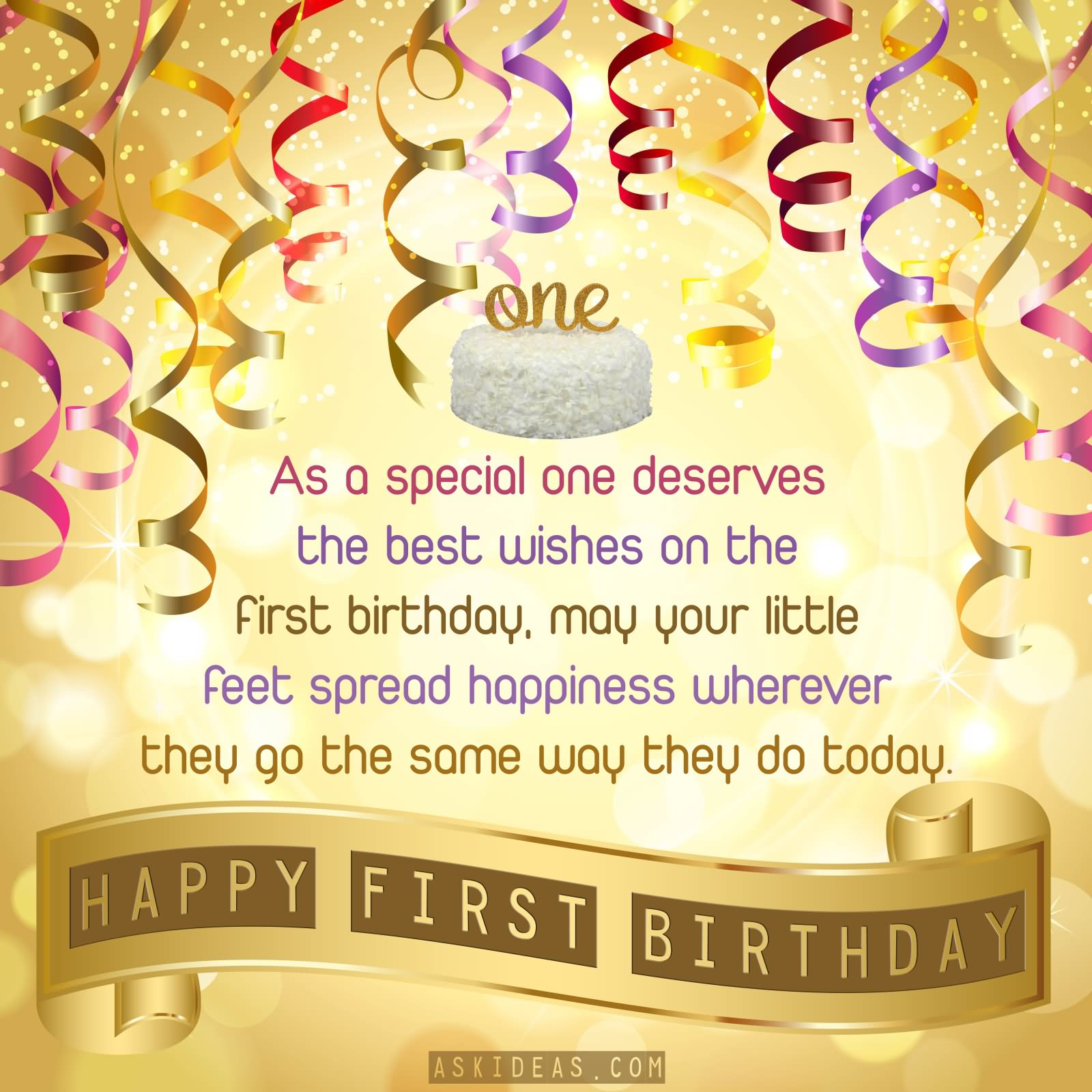 1st birthday wishes cute