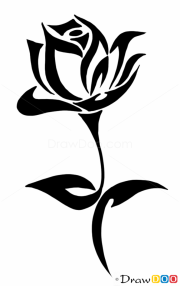 tribal rose tattoo ideas &