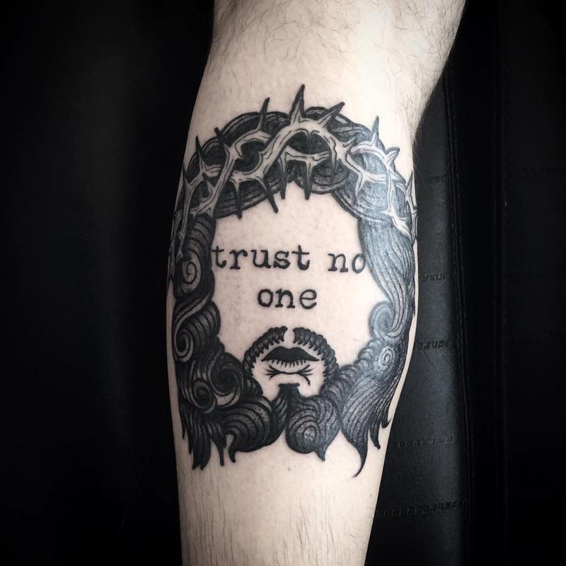 Trust No One Gun Tattoo Designs