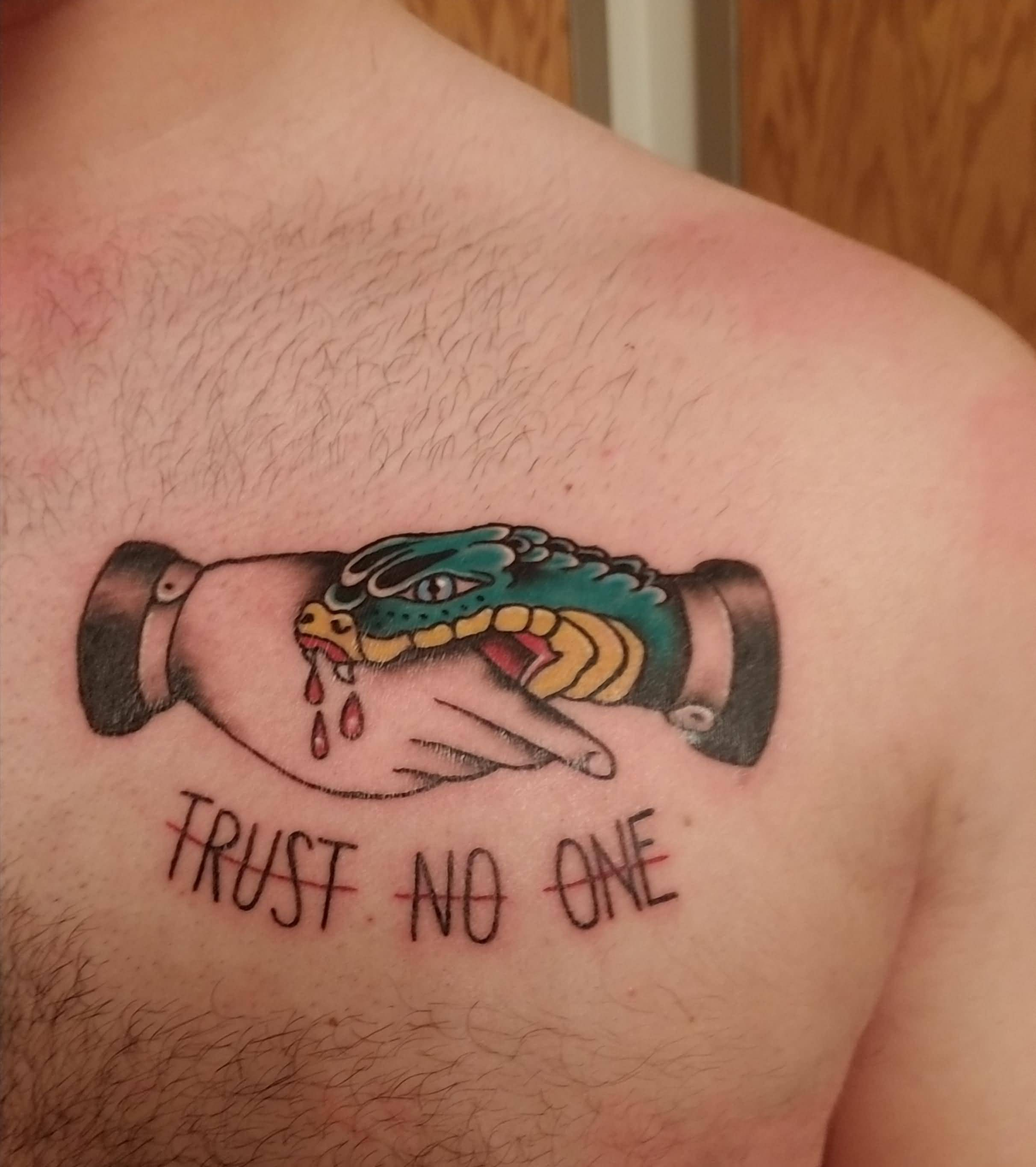 Trust No One Tattoo Designs