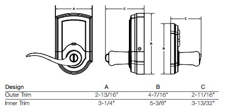 Kwikset 911 SmartCode Keypad Lock w/ Tustin Lever- SmartKey