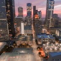 Houston, TX skyline at night