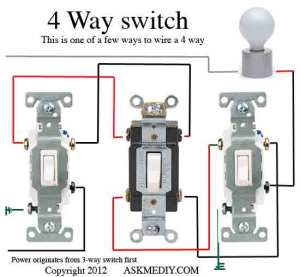 How to install a 4 way switch  AskmeDIY