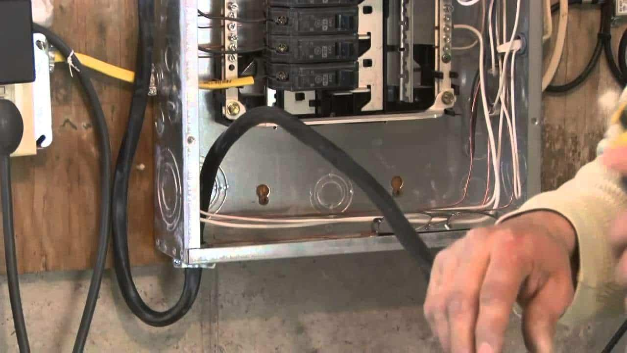 hight resolution of wiring outside shed